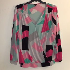 Multi Colored Blouse by WORTHINGTON WOMAN